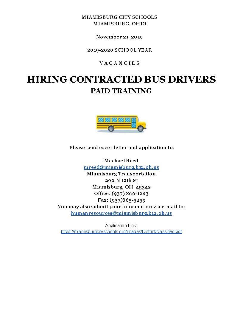 Bus Drivers Paid Training